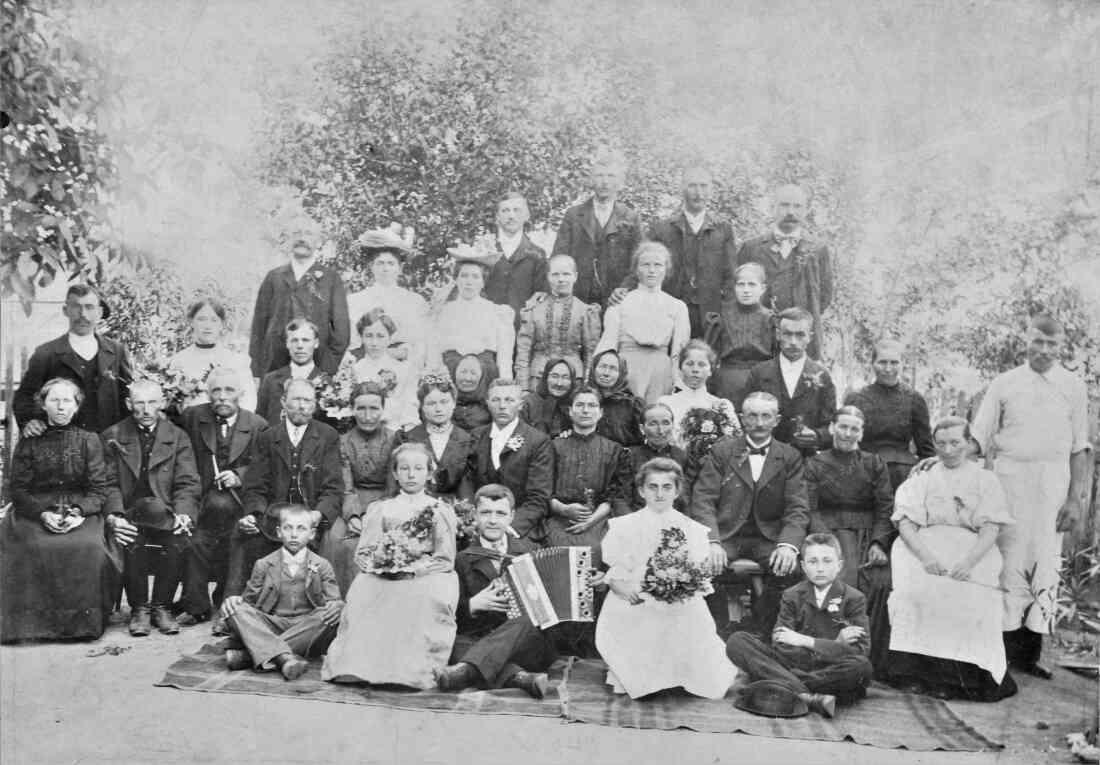 Hochzeit Karoline (*1885, geb. Kasper) und Alexander (*1880) Zambo