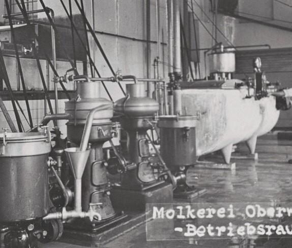 Genossenschaftsmolkerei: Ein Betriebsraum in der ersten Molkerei (Wienerstraße 8b)