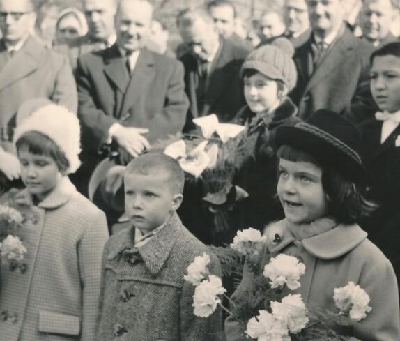 Bau der neuen röm. kath. Osterkirche: Begrüßung von Diözesanbischof DDr. Stephan László